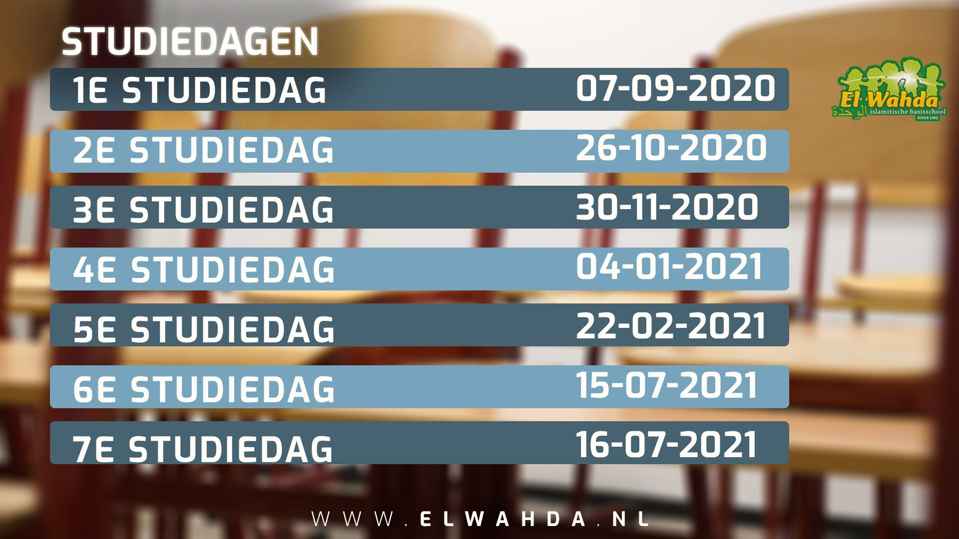 Studiedagen 2020 2021 el Wahda Heerlen